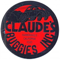"autocollant ""CLAUDE'S BUGGIES INC"" beetle burn out"