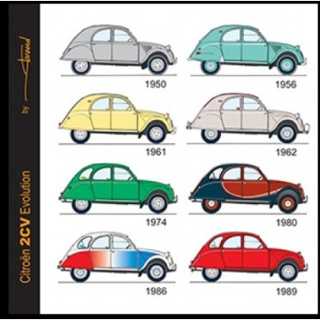 magnet carré 2cv Evolution