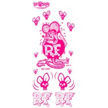 set de stickers RAT FINK rose remplace la ref 98161