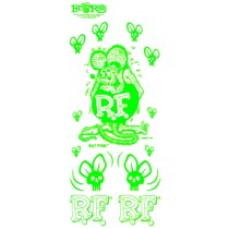 set de stickers RAT FINK vert remplace la ref 98162