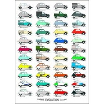 poster 2cv Evolution (700x500mm)