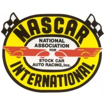 Autocollant NASCAR INTERNATIONAL ( 90 x 70 mm ) remplace la ref 98100