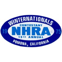 NHRA WINTERNATIONALS ( 130 x 70 mm ) remplace la ref 98105