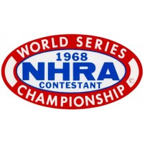 Autocollant NHRA WORLD SERIES 68 ( 130 x 70 mm ) remplace la ref 98107