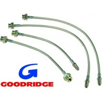 set de 4 flexibles de frein renforcés 1302/03 GOODRIDGE