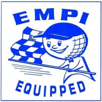 "autocollant ""EMPI EQUIPED"" 75x75mm"