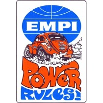 "autocollant ""EMPI POWER RULES"" 100x70mm"