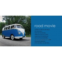 "carte postale Combi Split ""Road Movie"" (210x105mm)"
