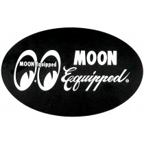 "autocollant ""MOON EQUIPPED"" noir (80x50mm) remplace la ref 98158"